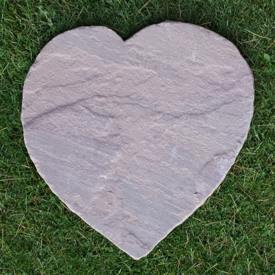 Antique Brown Sandstone, Pet Headstone, Heart-shaped